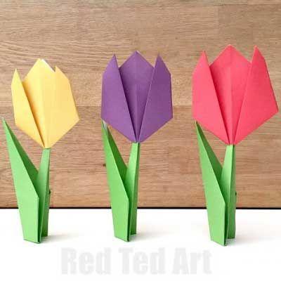 Easy Paper Tulip