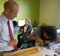 Kevin Vance in innovation lab
