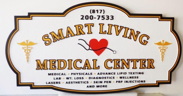 "B11084 - Carved  Sign for the ""Smart Living Medical Center"""