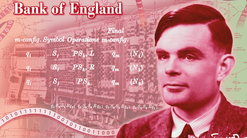 Alan Turing to be honored on UK's 50 Pound Note