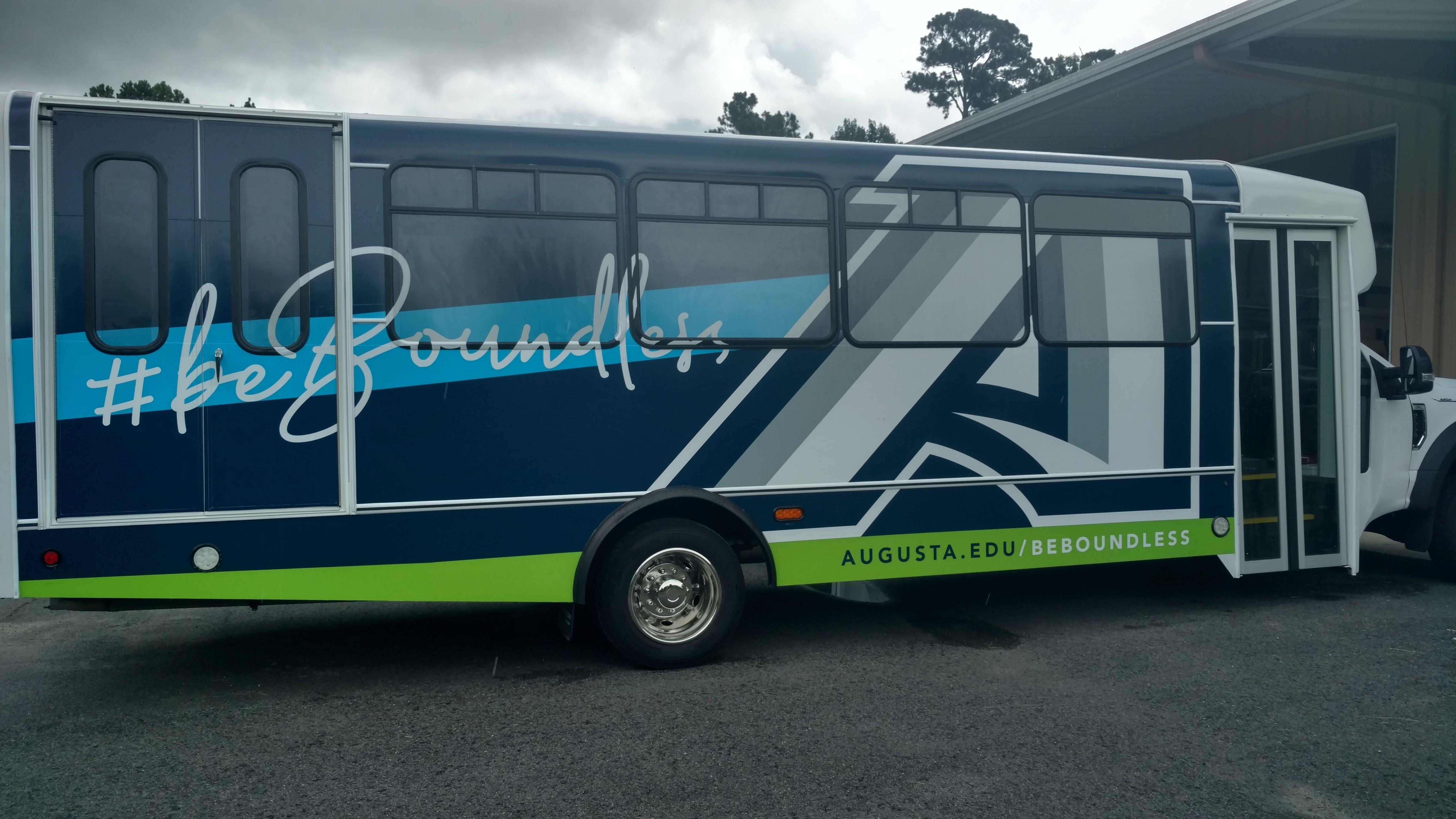 AU bus wrap