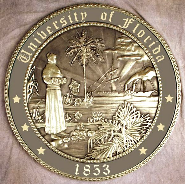 Y34326 - Bronze-Coated 3D Wall Plaque of the  Seal of The University of Florida