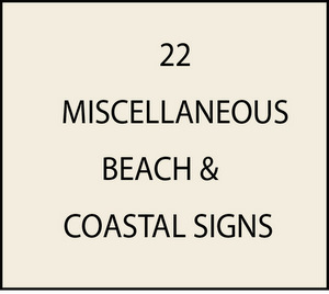 L21920 - Miscellaneous Beach and Seashore Signs