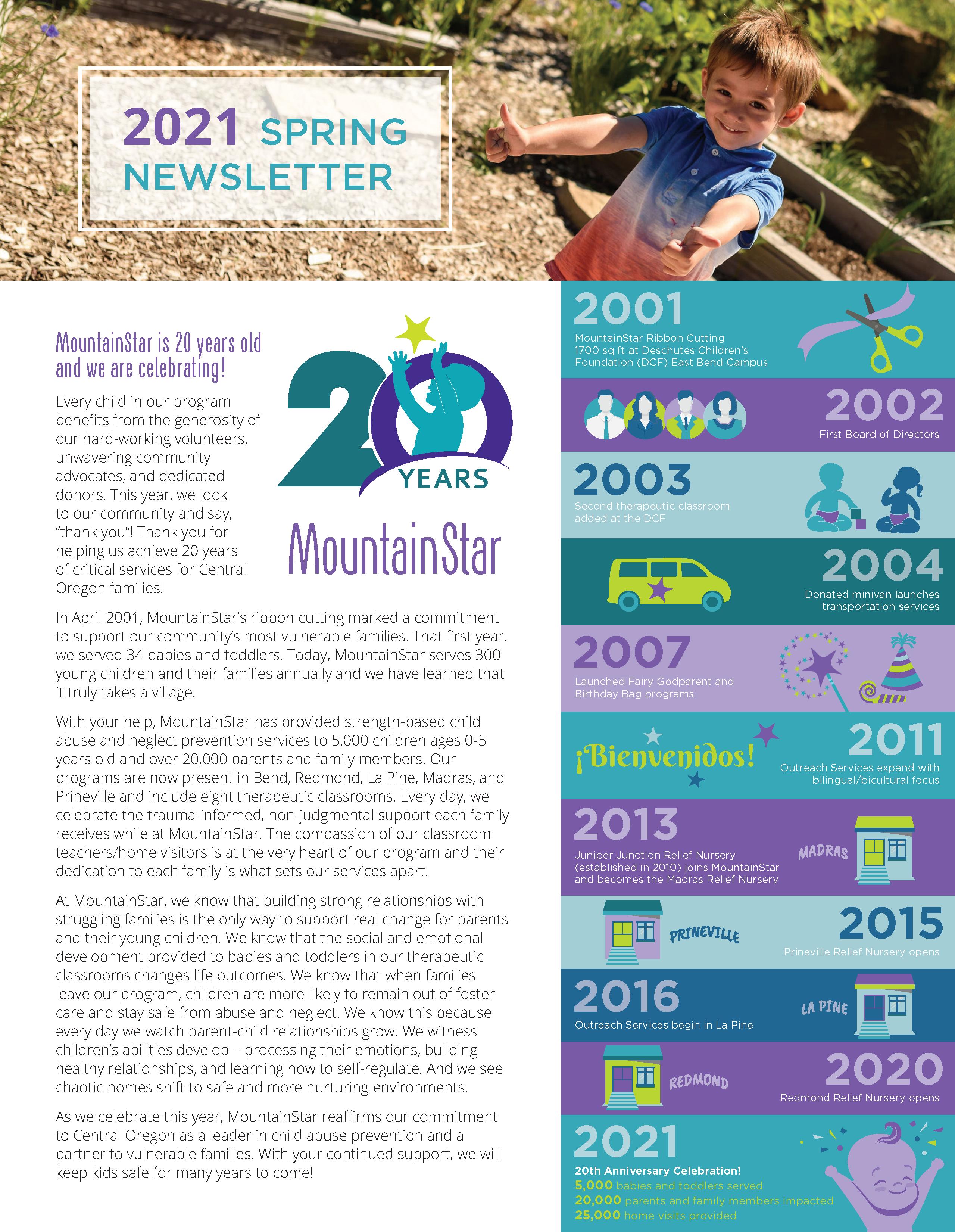 MountainStar Spring Newsletter