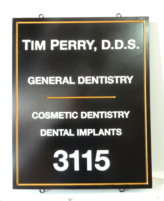 BA11588 - HDU Sign for General and Cosmetic Dentistry and Dental Implants