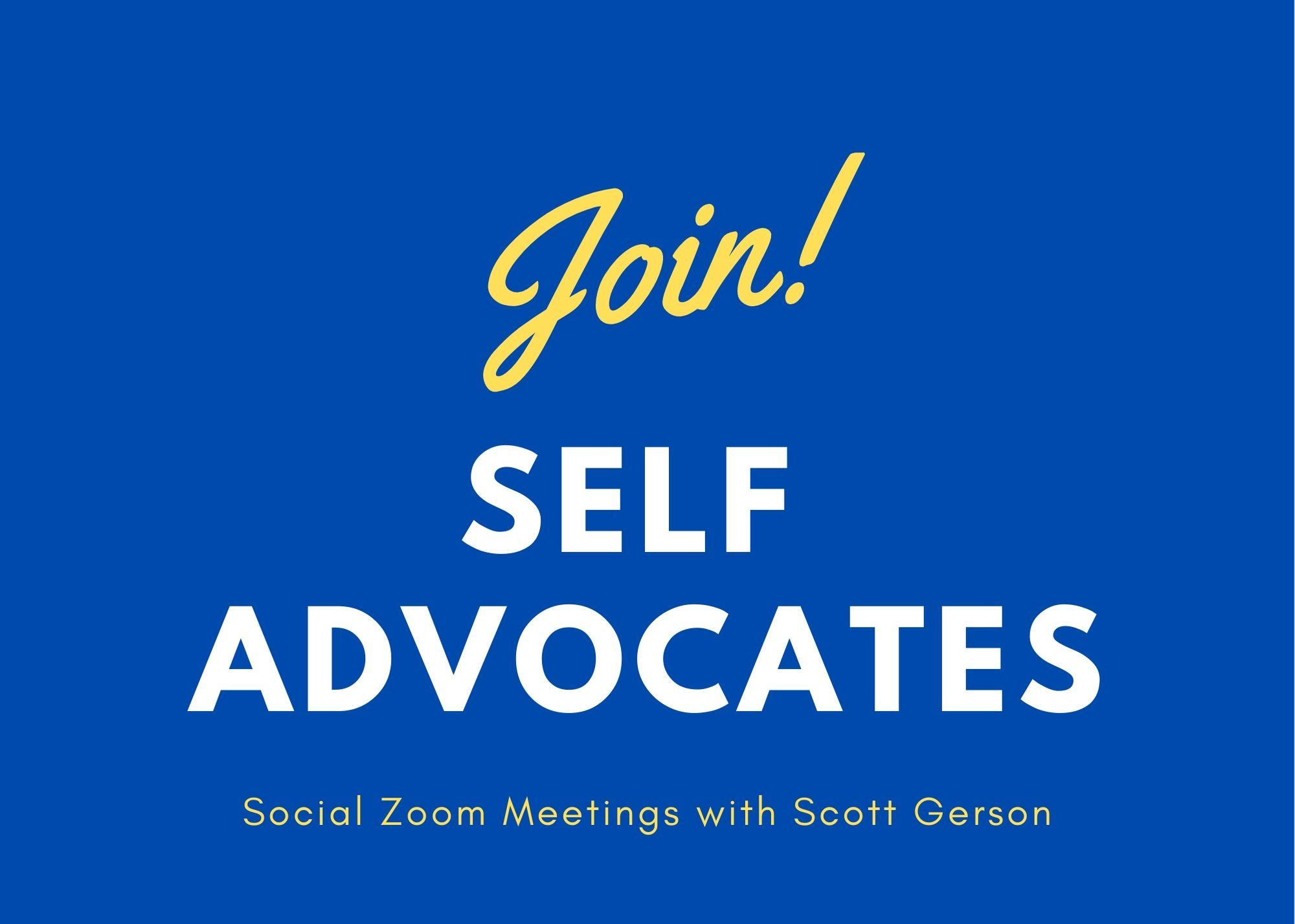 Self-advocate Zoom Social