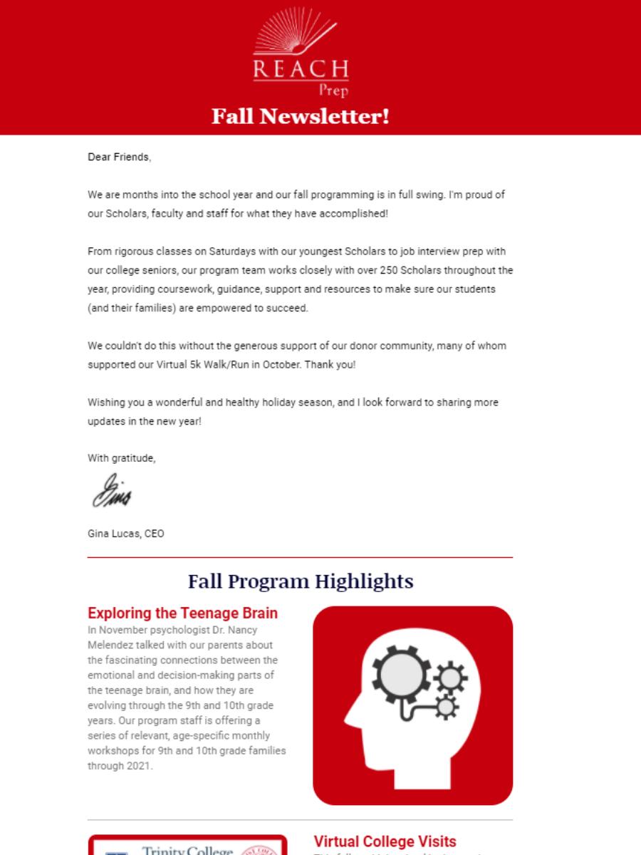 Newsletter: Fall 2020 Updates