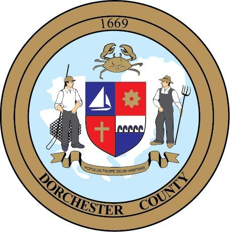CP-1095 -  Plaque of the Seal of Dorchester County, Maryland, Giclee