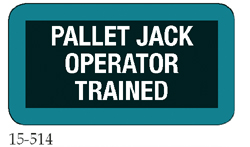 Pallet Jack Operator Trained