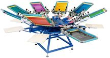 screen printing multi station machine