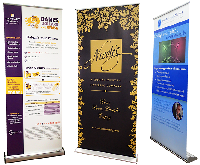 Retractable Banner Stands from Accuprint_Albany, NY