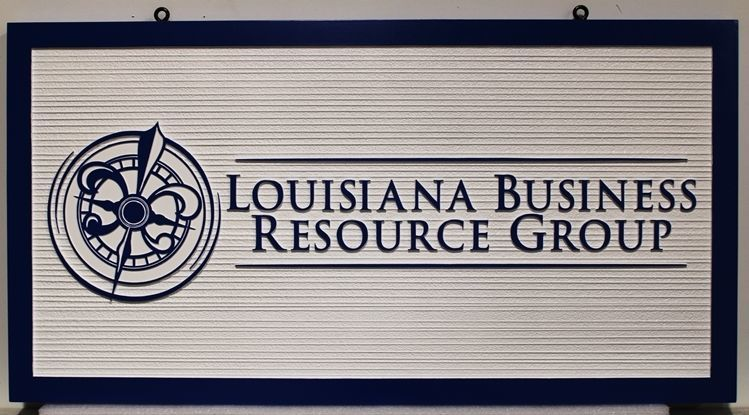 S28206 - Carved 2,5-D and Sandblasted Woof Grain  2.5-D Sign for Louisiana Business Resource Group