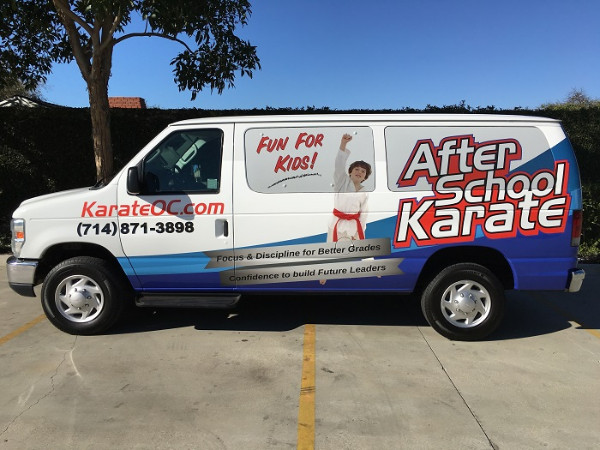 Eye-grabbing vinyl van wraps in Orange County