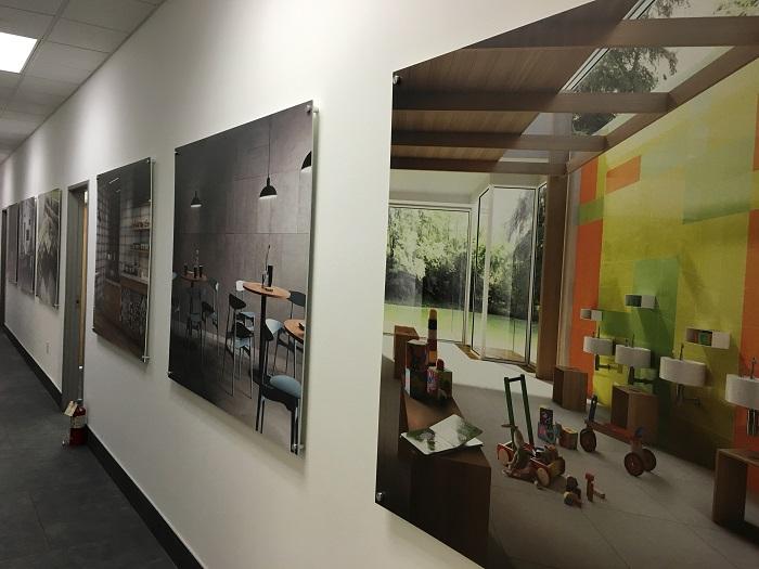 Wall Graphics on Standoffs