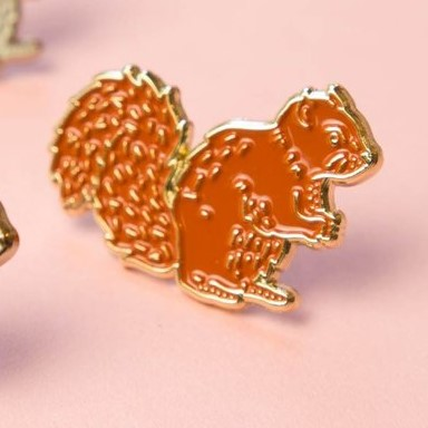 Red Squirrel Pin by Darwin Designs