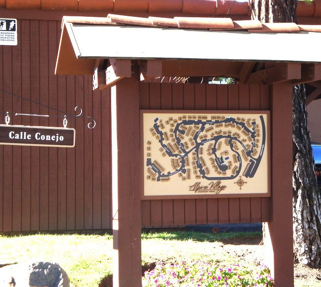 KA20785 - Carved HDU Apartment Complex Sign Mounted Between 2 Wood Posts