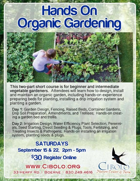 FARM; Hands On Organic Gardening 2-part Workshop