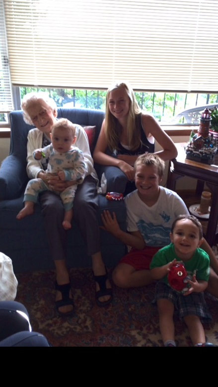 Gma with Great-Grandkids