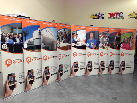 Trade show retractable banner stands Orange County