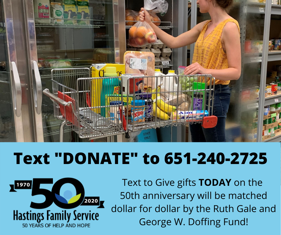 50th Anniversary Text to Give Donations Matched Today!