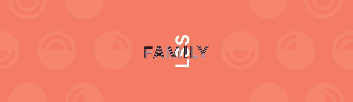Graphic: LSS Interlocking with the word Family.