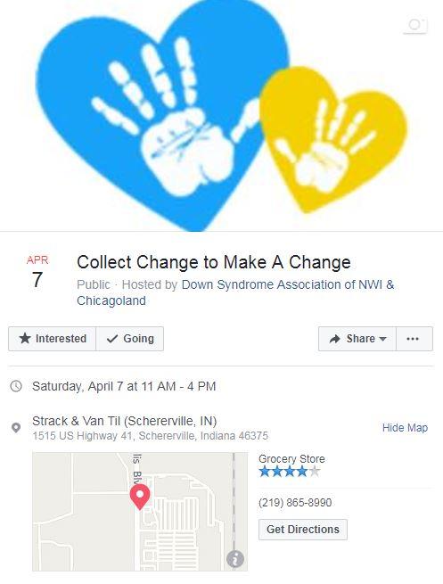 Collect Change to Make a Change -Strack & Van Til-Schererville
