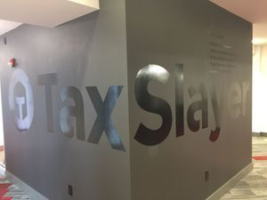 TaxSlayer Frosted Windows