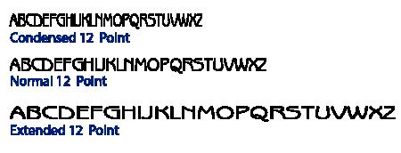 Condensed Type