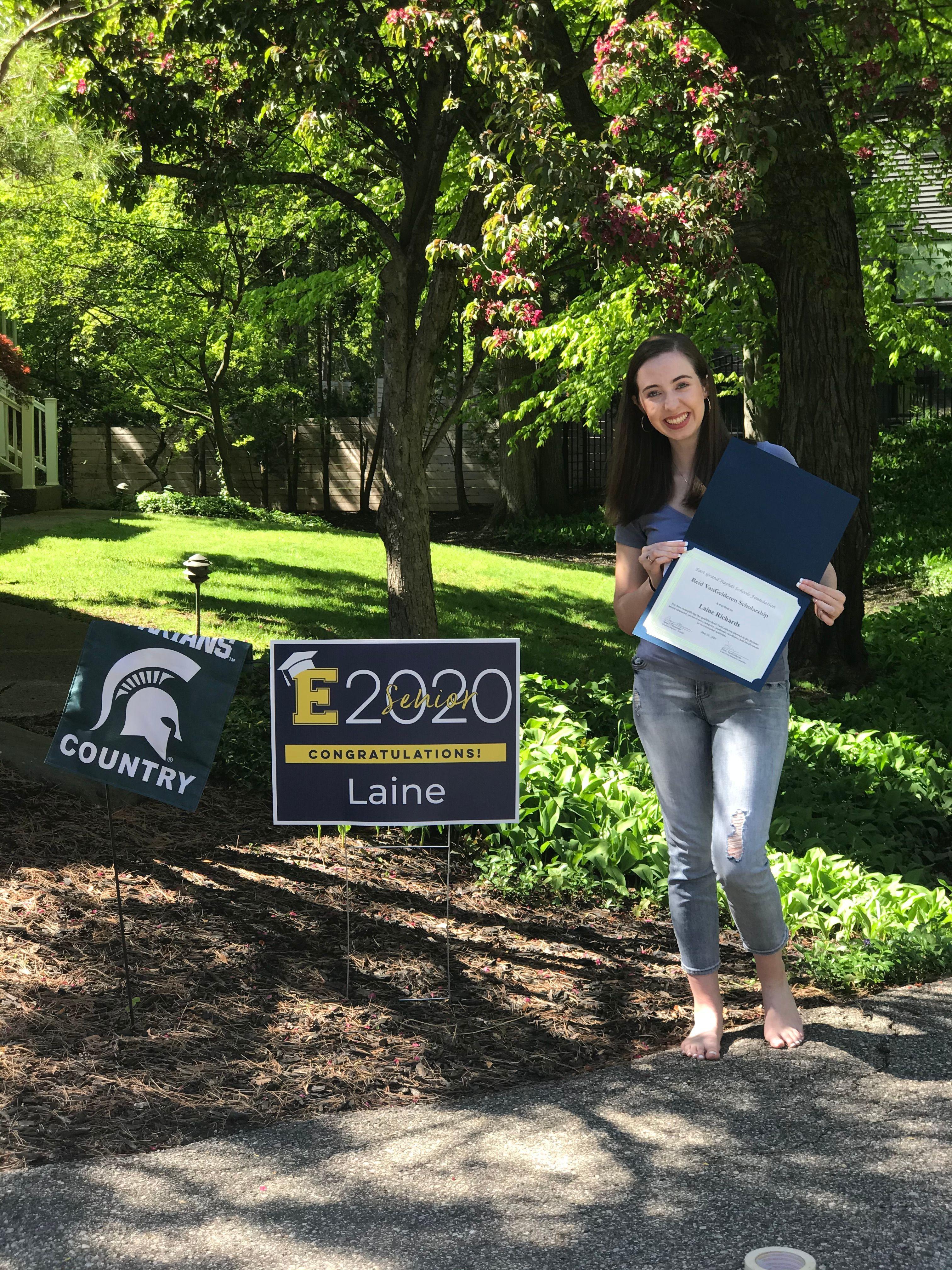 Laine Richards - Reid VanGelderen Memorial Scholarship