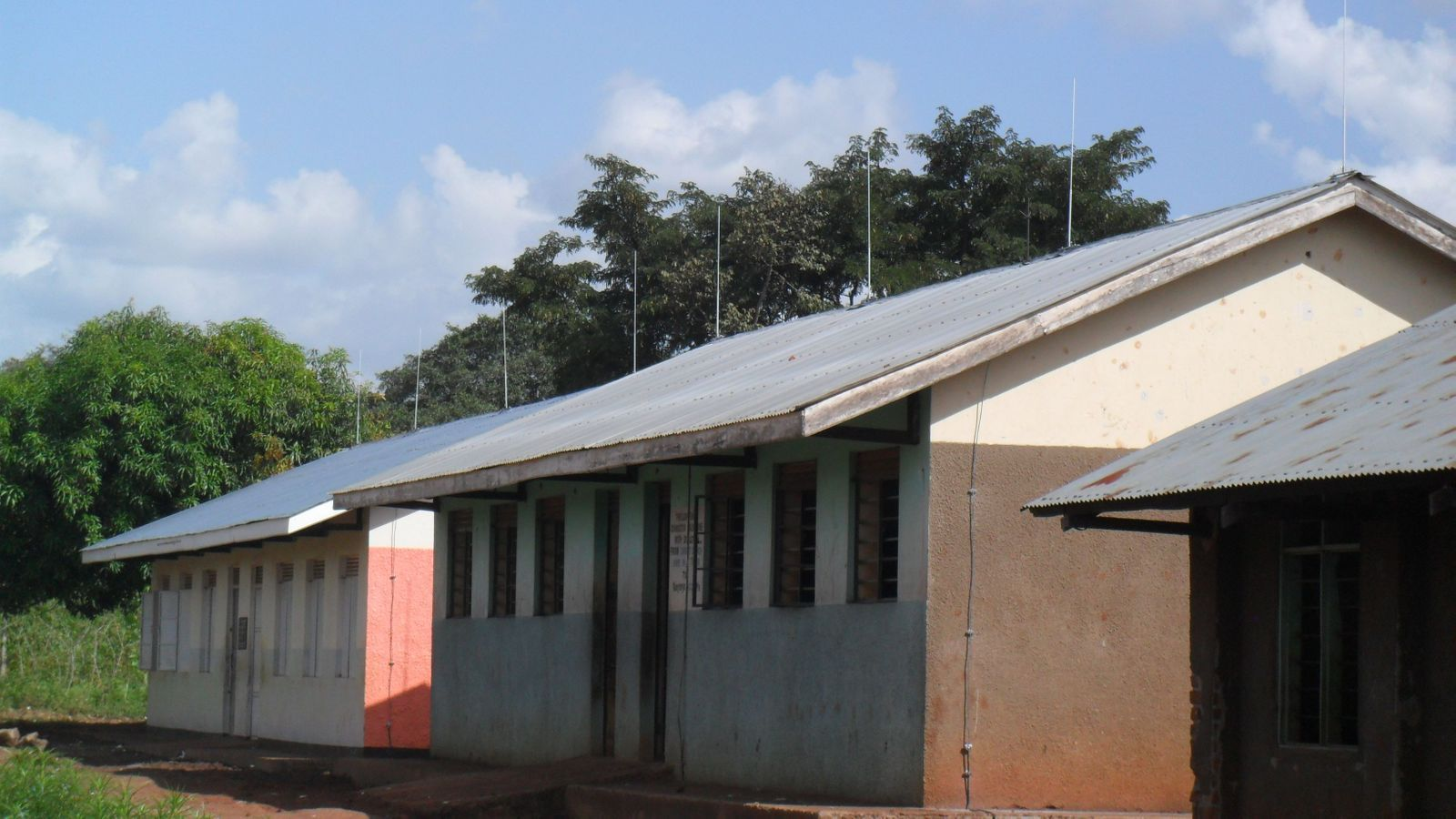 Classroom buildings after Lightning Protection System installed