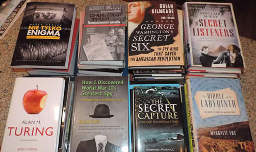 Just a few of the items donated in 2014 by Dr. David Kahn to the National Cryptologic Museum Foundation for the NCM