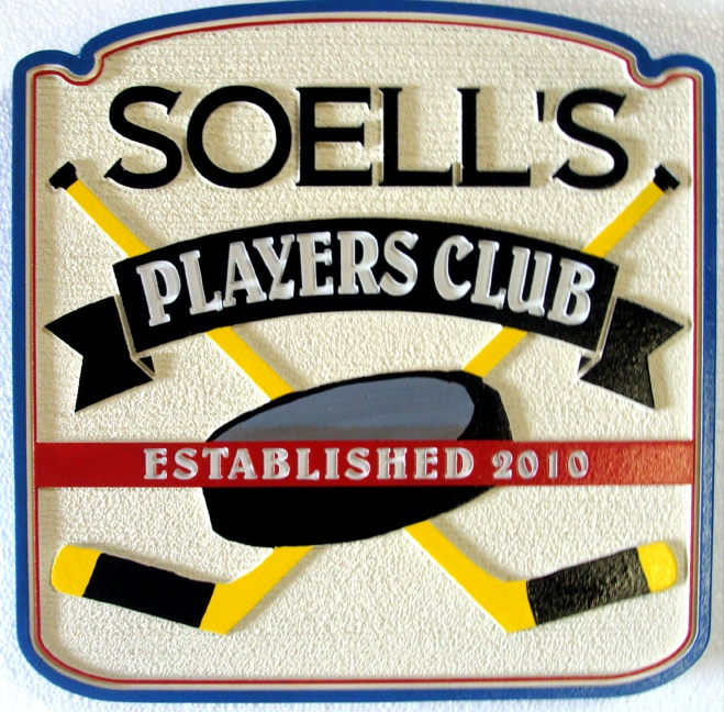 RB27330 - Carved Hockey Sports Bar Sign