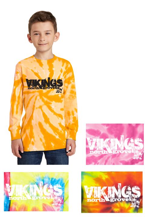 Vikings Tie Dye - Long-sleeve Tee