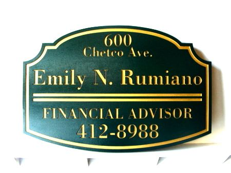 C12014 - Engraved Wooden Financial Advisor Plaque