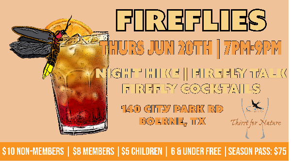 CNC: a Thirst for Nature event: Fireflies!