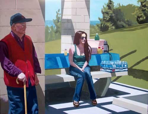 """Picnic at Granada Park"" - acrylic on canvas, 28"" x 36"""