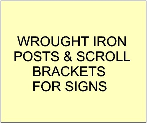 7. -  GA16720 - Wrought Iron and Aluminum Posts and  Scroll Brackets for Parks & Gardens