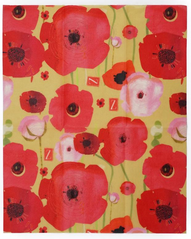Z Wrap - Painted Poppies (Large)
