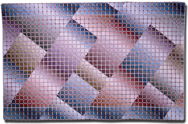 'Depth of Field III:  Plane View,' made by Jan Myers-Newbury, dated 1985, 85.5 x 132 in, IQSCM 1997.007.1062