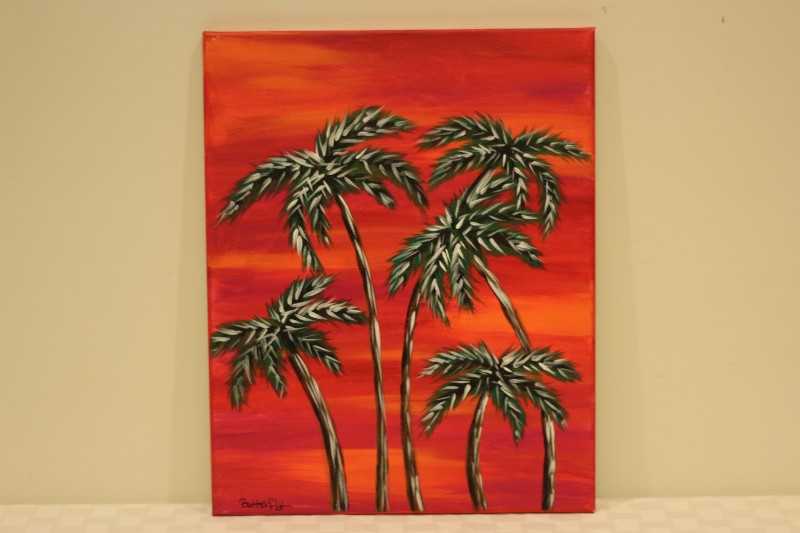 """Tropical Sunset"" - Donated by the artist, Carrie ""Butterfly"" Turner"