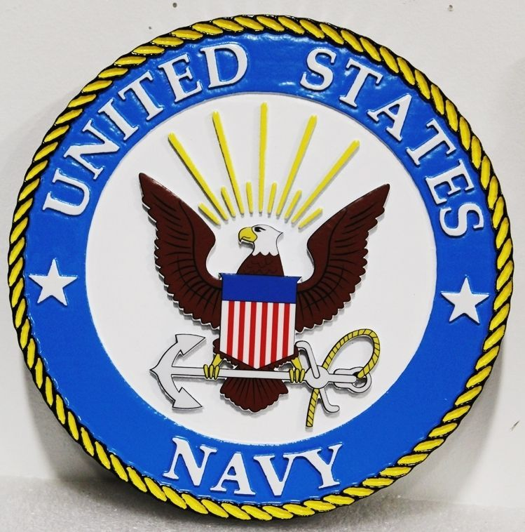 JP-1201 - Carved 2.5-D HDU Plaque of the Seal of the  Chief of Naval Operations (CNO)
