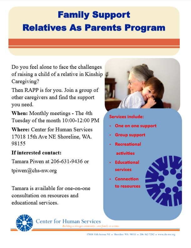 Family Support - Relatives as Parents Program