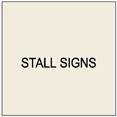 P25400 - Stall Signs for Horses