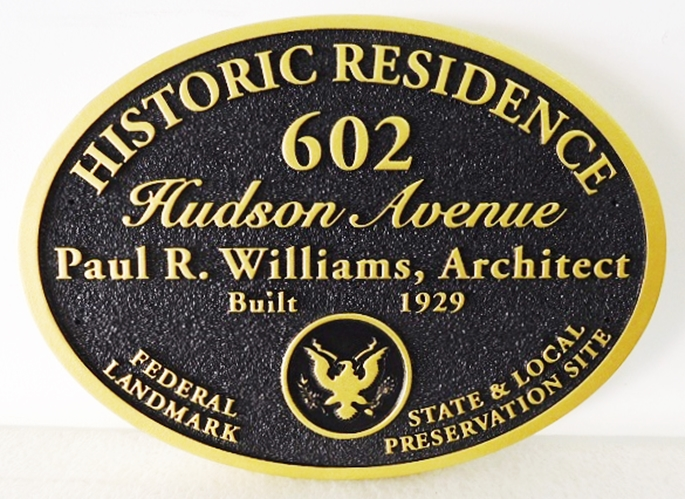 F15977 - Carved and Sandblasted Historic Residence Sign