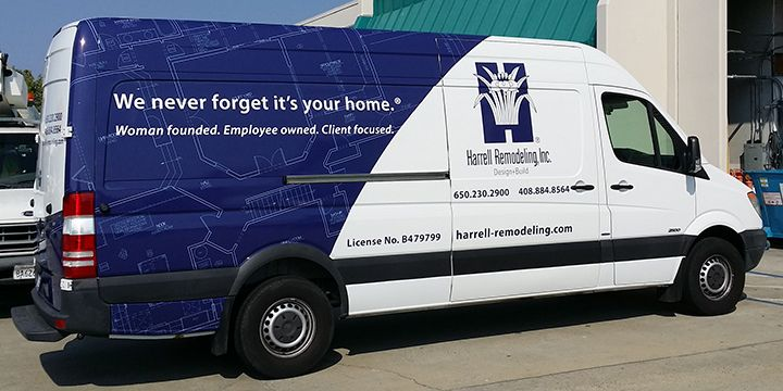 Transit Van parial wrap side view