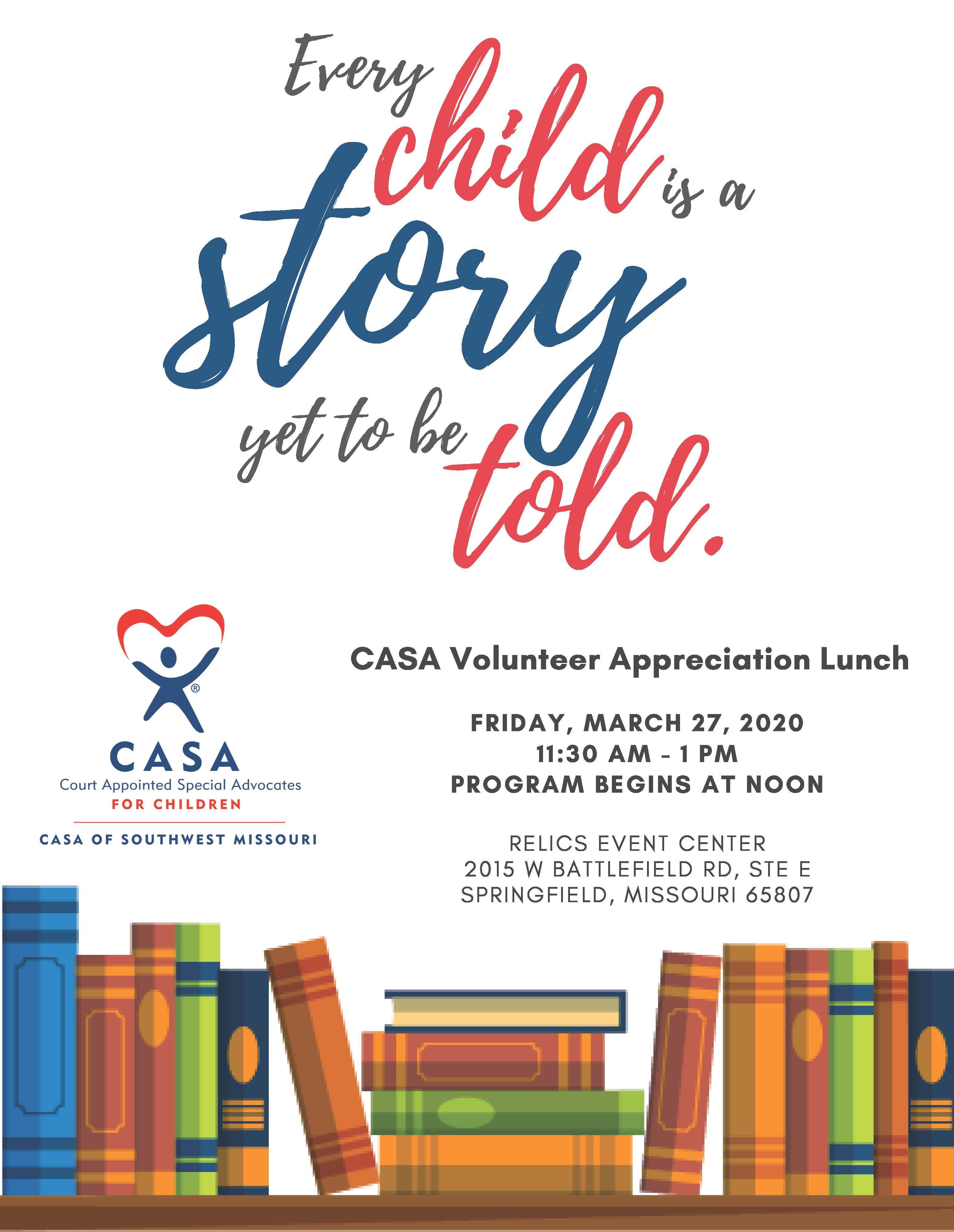 CASA Volunteer Appreciation Luncheon