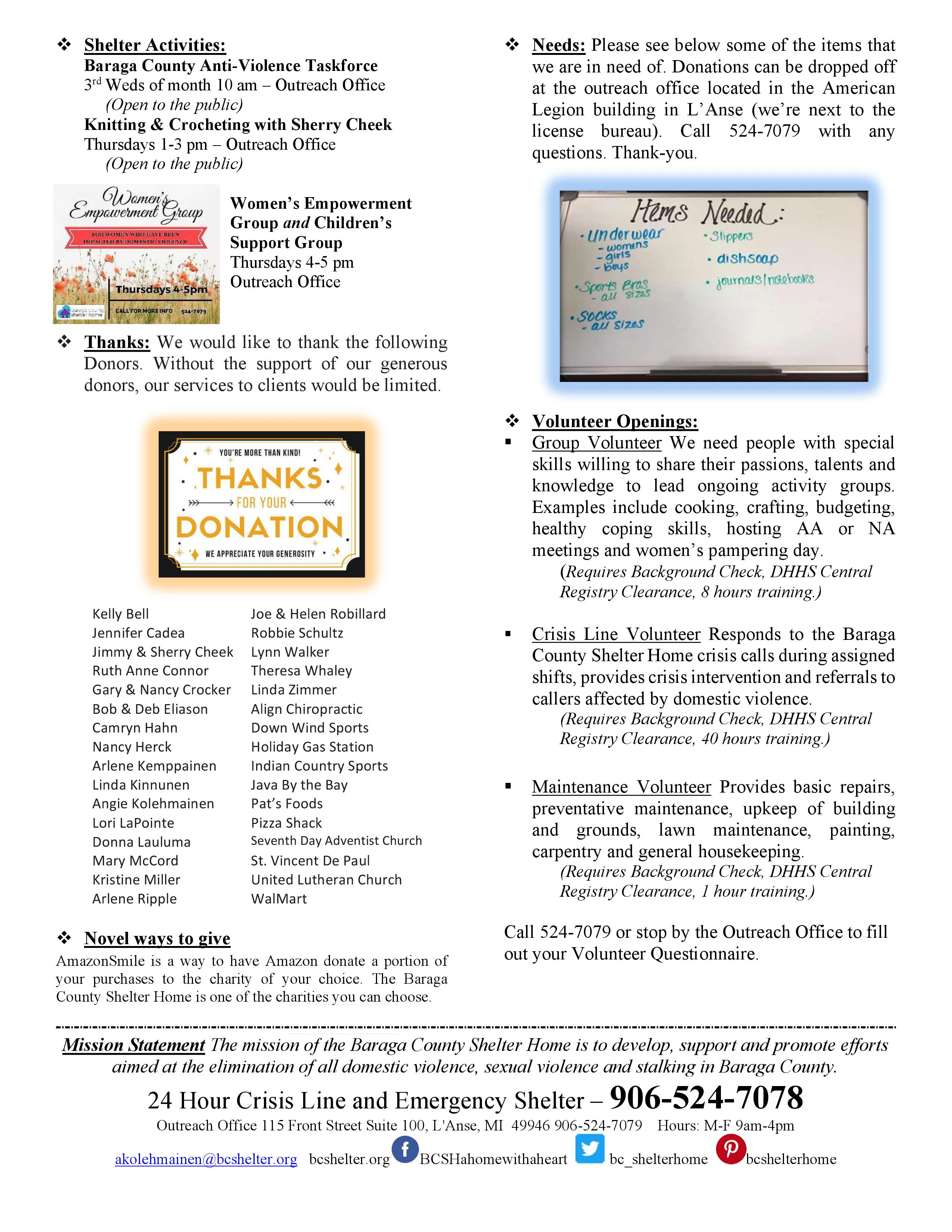 September Newsletter page 2