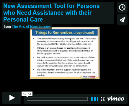 New Assessment Tool for Persons who Need Assistance with their Personal Care