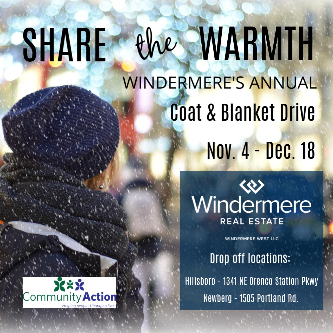 Windermere West's Annual Coat & Blanket Drive
