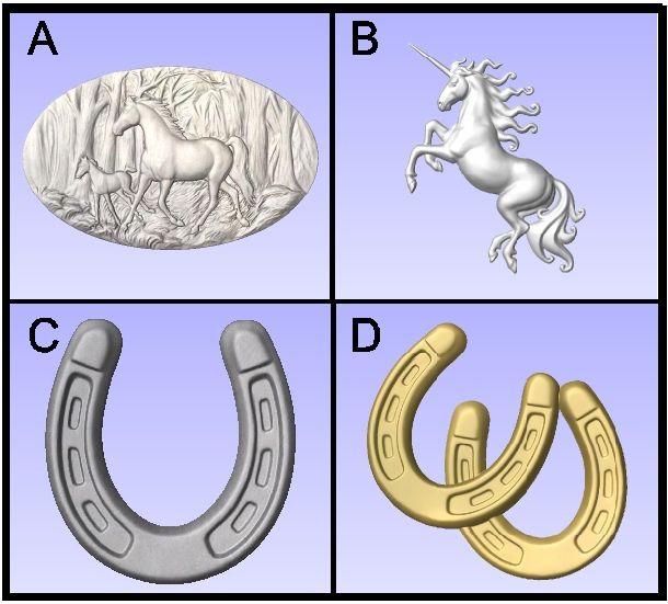 P25914 - Carved Horse Symbols